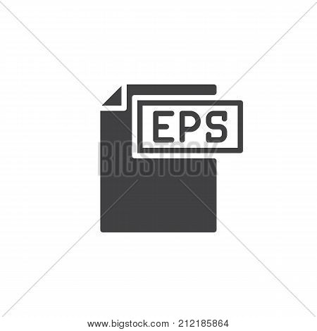 Eps format document icon vector, filled flat sign, solid pictogram isolated on white. File formats symbol, logo illustration.
