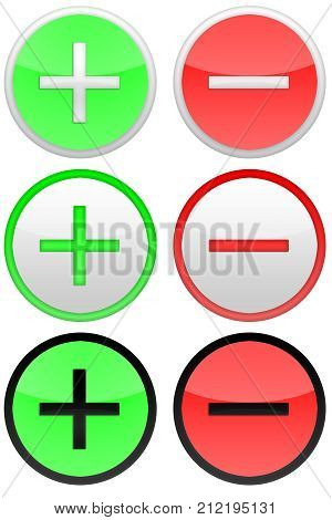 Pro and con round icons on the white background.