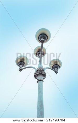 Street Lamps In Kiev. Vintage Street Lamp On The Street