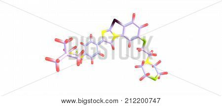 Quizartinib Molecular Structure Isolated On White