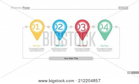 Step by step infographics slide template. Business data. Graph, diagram, design. Creative concept for infographic, report. Can be used for topics like way of development, recommendation, manual