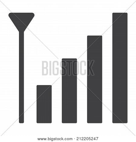 Mobile phone signal glyph icon, web and mobile, antenna sign vector graphics, a solid pattern on a white background, eps 10.