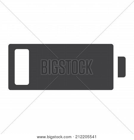 Low battery glyph icon, web and mobile, energy sign vector graphics, a solid pattern on a white background, eps 10.