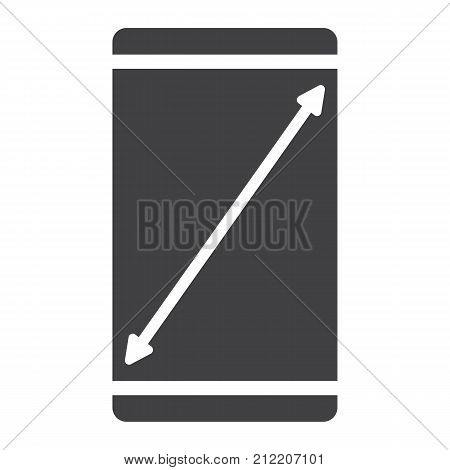 Resize mobile screen glyph icon, web and mobile, display sign vector graphics, a solid pattern on a white background, eps 10.