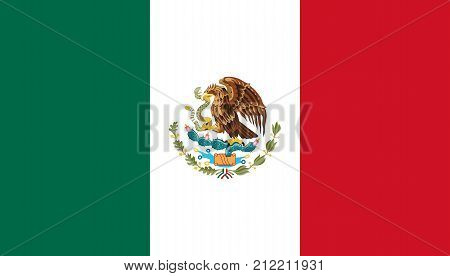 The Official vector flag of Mexico .