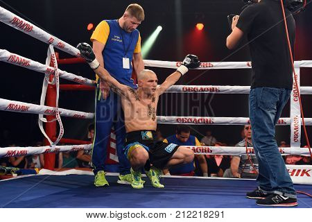 Boxer Denys Berinchyk In The Ring