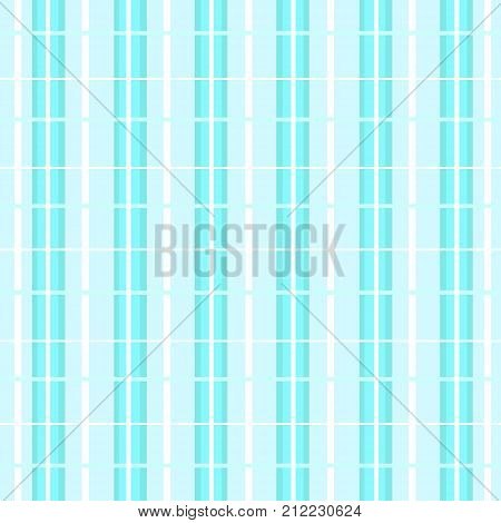 Soothing vector background with striped cage in light blue and dark blue nuances