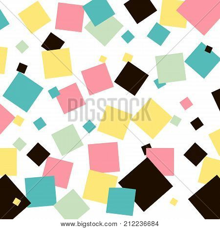 Abstract geometrical squares pattern on white background