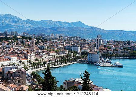 Seafront View On Split City - Dalmatia, Croatia