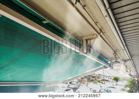 Water Mist Cooling System On Ceiling Lowers Tropical Ambient Temperature