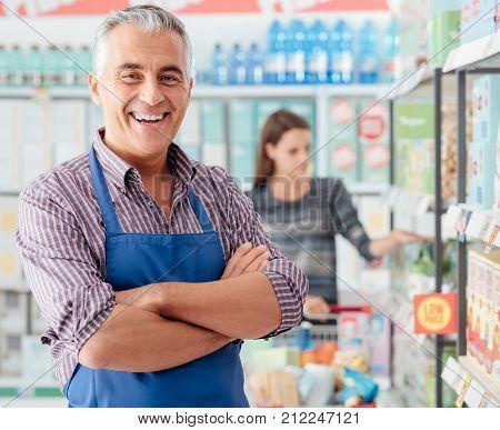 Supermarket Clerk Portrait