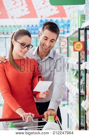 Couple Doing Grocery Shopping