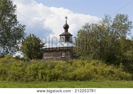 Chapel Nicholas the Wonderworker in a village Vakhrushevo, Verkhovazh ye district, Vologda region, Russia