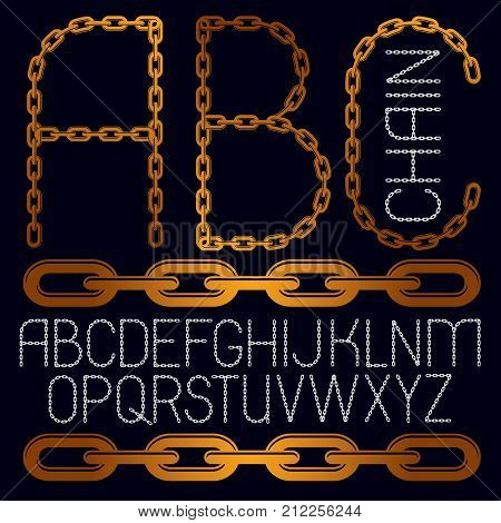 Set Of Vector Business English Alphabet Letters, Abc Isolated. Capital Creative Font Made With Iron