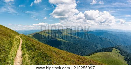 Beautiful Mountainous Landscape On Fine Summer Day