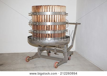 Grape Press Traditional Old Technique Of Wine Making