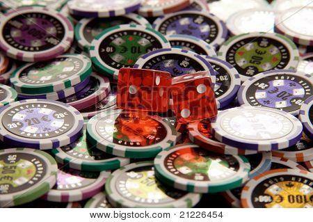 Pair of dice closeup