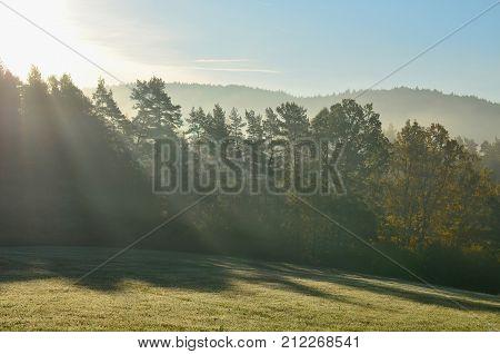 autumn landscape southern Bohemia . Czech Republic