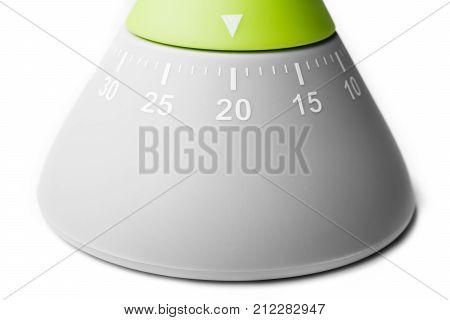 20 Minutes - Analog Kitchen Egg Timer Isolated On White Background