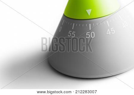 50 Minutes - Macro Of An Analog Kitchen Egg Timer