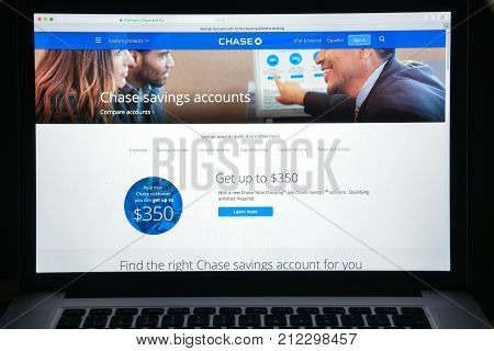 Milan, Italy - August 10, 2017: Chase Bank Website. It Is A National Bank That Constitutes The Consu