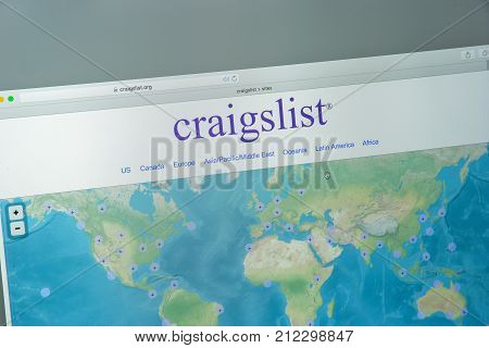 Milan, Italy - August 10, 2017: Craigslist.org Website Homepage. It Is An American Classified Advert