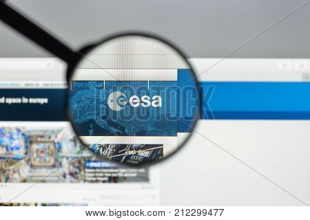 Milan, Italy - August 10, 2017: Esa Website Homepage. It Is An Intergovernmental Organisation Of 22