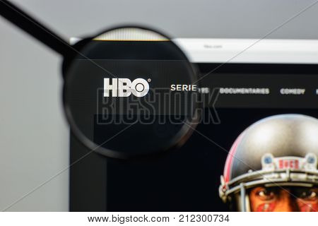 Milan, Italy - August 10, 2017: Hbo.com Website Homepage. It Is An American Premium Cable And Satell