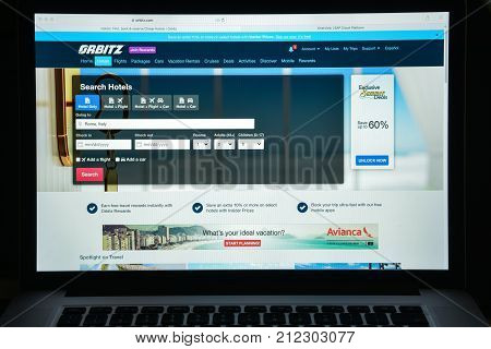 Milan, Italy - August 10, 2017: Orbitz Website Homepage. It Is A Travel Fare Aggregator Website And