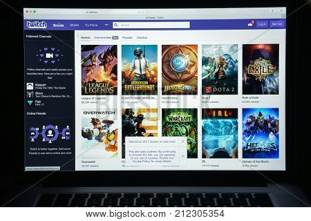 Milan, Italy - August 10, 2017: Twitch Website Homepage. It Is A Live Streaming Video Platform Owned