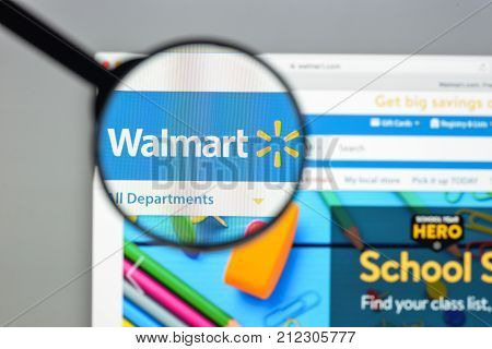 Milan, Italy - August 10, 2017: Walmart Website Homepage. It Is An American Multinational Retailing