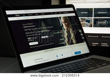 Milan, Italy - August 10, 2017: Xfinity Website Homepage. It Is A Brand Of Comcast Cable Communicati