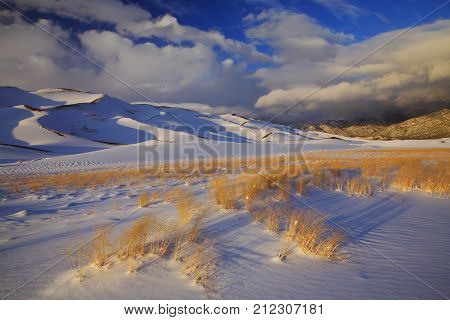 Snowy National sand dunes monument in Colorado
