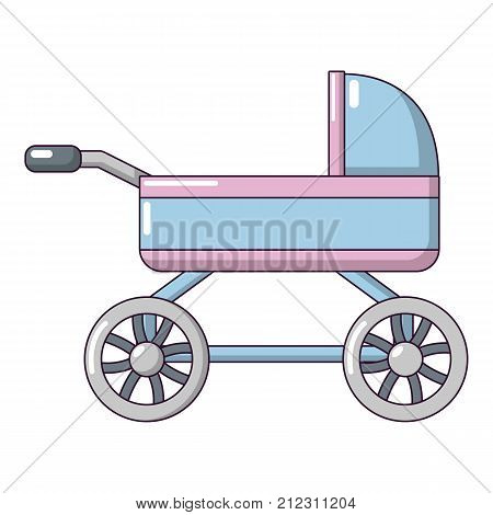 Baby carriage icon. Cartoon illustration of baby carriage vector icon for web
