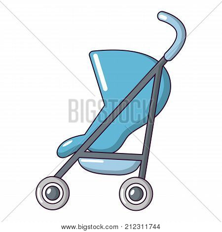 Baby carriage simple icon. Cartoon illustration of baby carriage simple vector icon for web