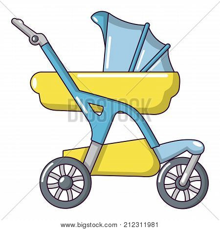 Baby carriage designer icon. Cartoon illustration of baby carriage designer vector icon for web