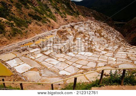 The ancient salt pans at Maras Peru