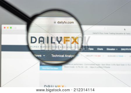 Milan, Italy - August 10, 2017: Dailyfx Website Homepage. It Is A Uk-based Company Providing Trading