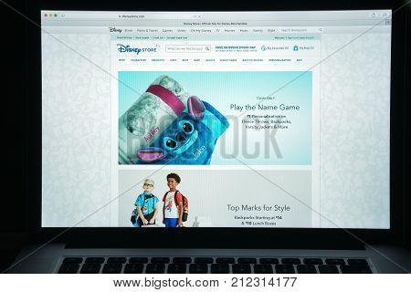 Milan, Italy - August 10, 2017: Disneystore.com Website Homepage. It Is An American Diversified Mult