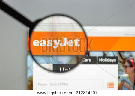 Milan, Italy - August 10, 2017: Easyjet Website Homepage. It Is A British Airline, Operating Under T