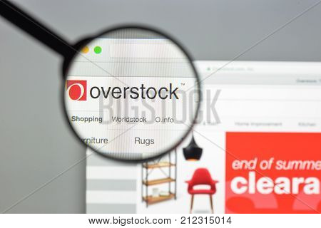Milan, Italy - August 10, 2017: Overstock Website Homepage. It Is An American Internet Retailer. Ove