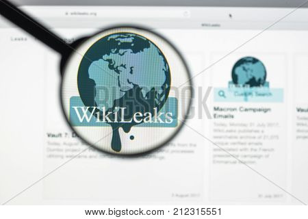 Milan, Italy - August 10, 2017: Wikileaks Website Homepage. It Is An International Non-profit Organi