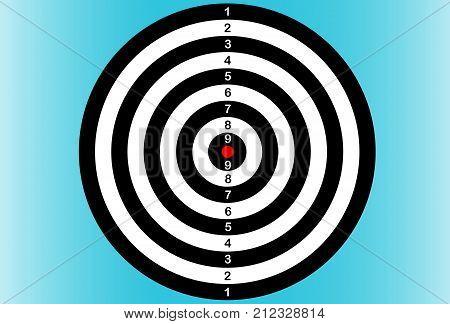 Darts on blue background. Dartboard. Vector illustration.