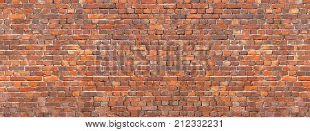 brick wall texture background of old brickwork. brick wall