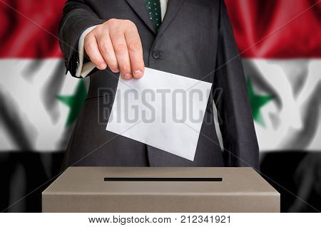 Election In Syria - Voting At The Ballot Box