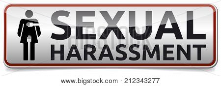 Sexual Harassment - banner with shadow - glossy banner
