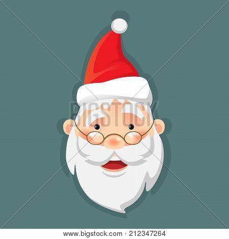 Santa Claus icon. Santa Claus flat vector illustration