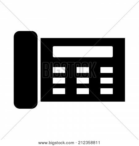 Fax It Is Black Icon .