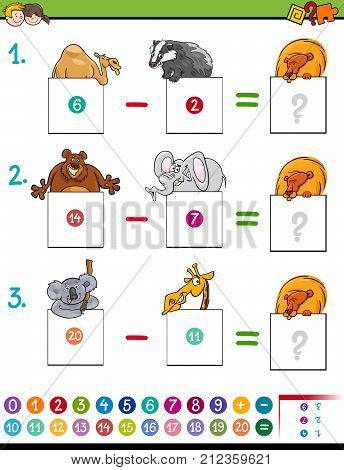 Maths Subtraction Game With Animals