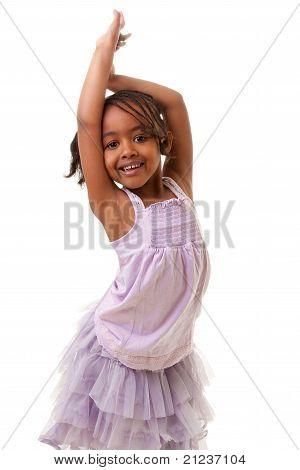 Schattig klein zwarte meisje